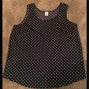 Polka dot blouse/tank